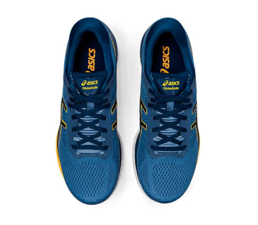 scarpe asics glideride uomo da running viste da sopra