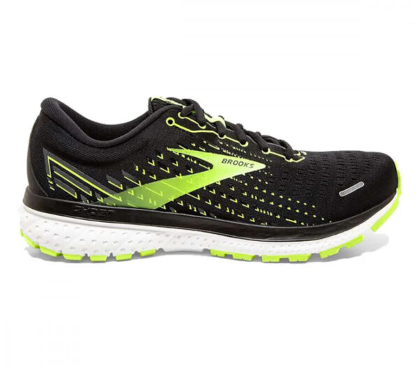 scarpa da running calzata larga Brooks Ghost 13 wide nera