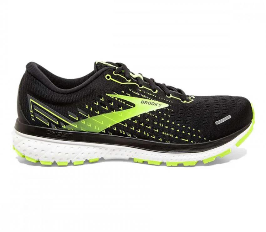 scarpa da running calzata larga Brooks Ghost 13 wide nera