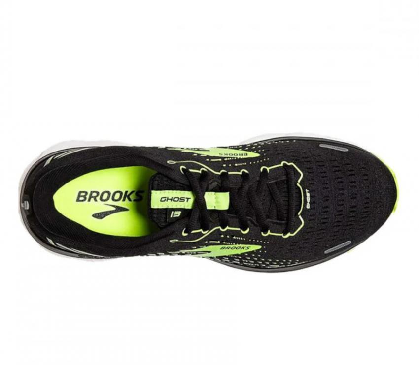 tomaia scarpa da running calzata larga Brooks Ghost 13 wide nera