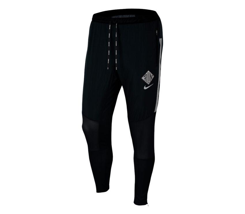 pantaloni running neri nike phenom wild