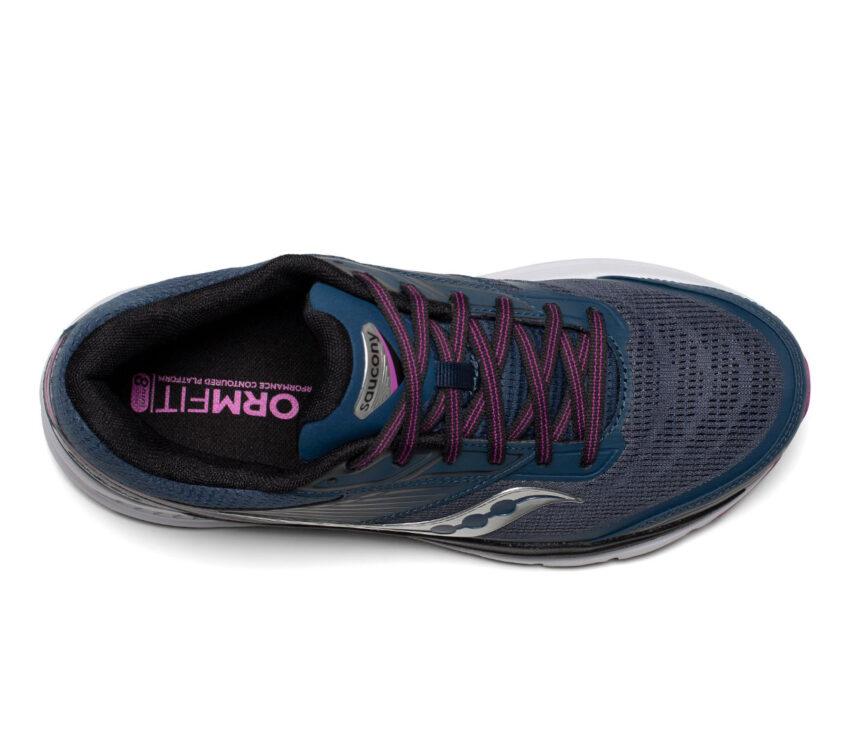 tomaia scarpa da running donna saucony echelon 8 blu e viola
