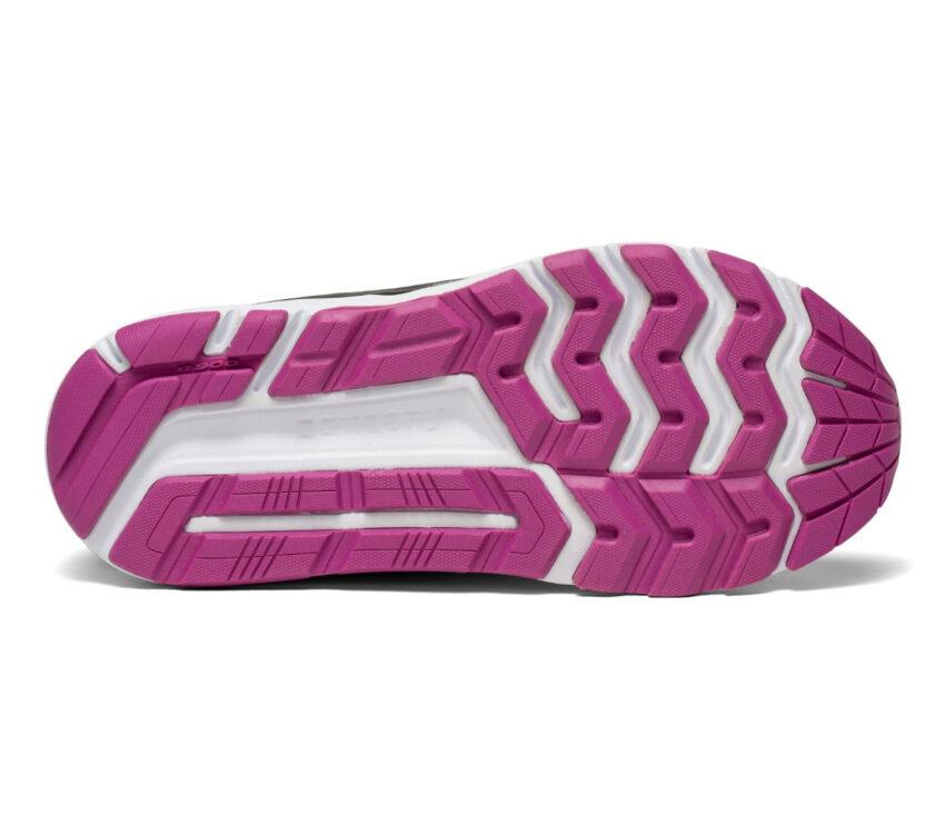 suola scarpa da running donna saucony echelon 8 blu e viola