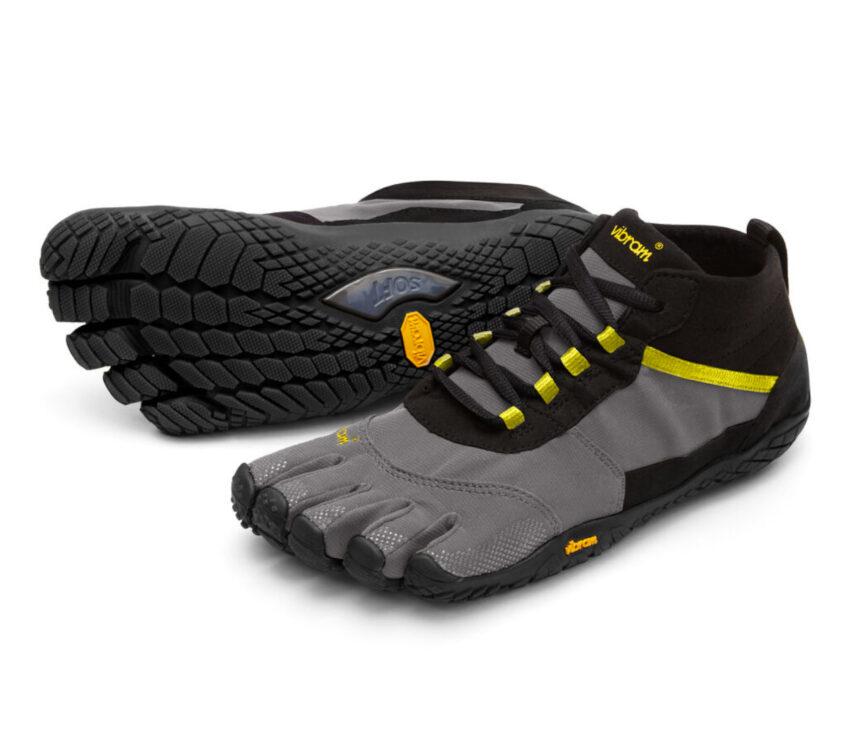 coppia scarpe vibram five fingers v trek running da uomo nere e grigie