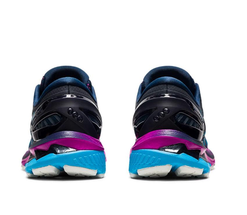 tallone scarpa asics kayano 27 donna blu e viola