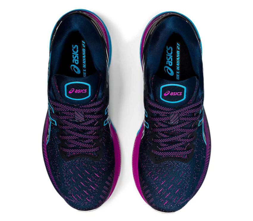 tomaia scarpa asics kayano 27 donna blu e viola