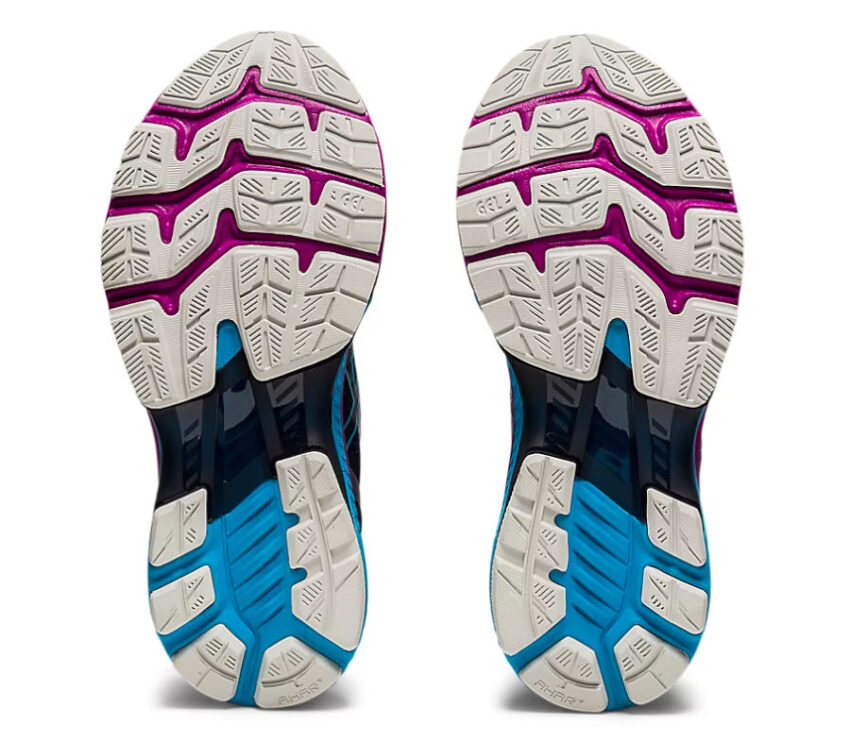suola scarpa asics kayano 27 donna blu e viola