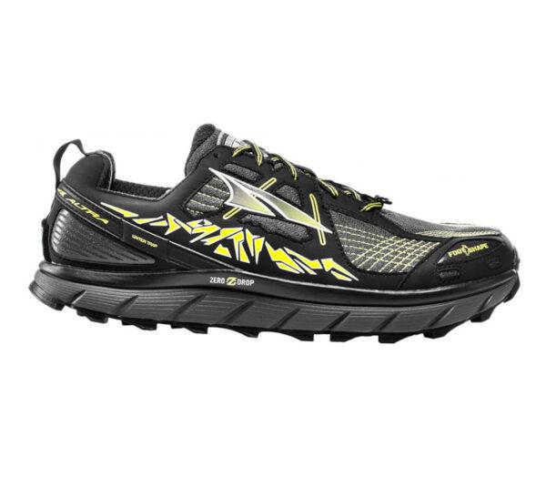 scarpa da trail running per uomo altra lone peak 3.5 nera e gialla