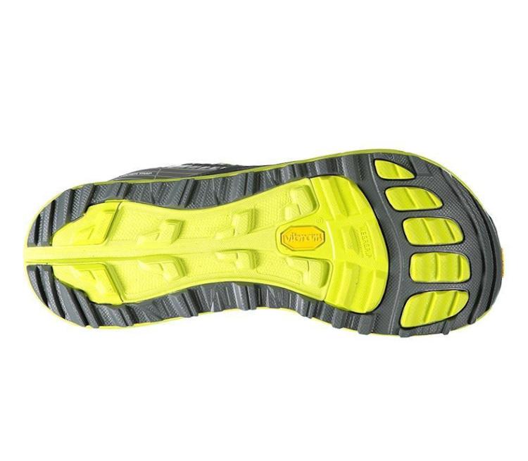suola scarpa da trail altra olympus 2.5 uomo giallo fluo