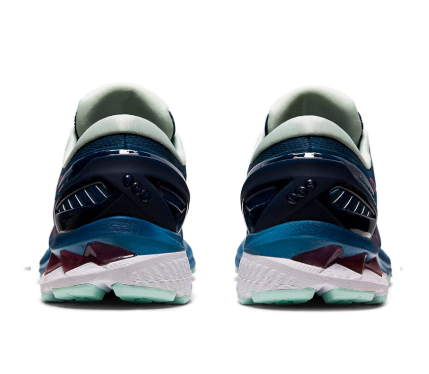 scarpe running asics gel kayano 27 da donna viste da dietro