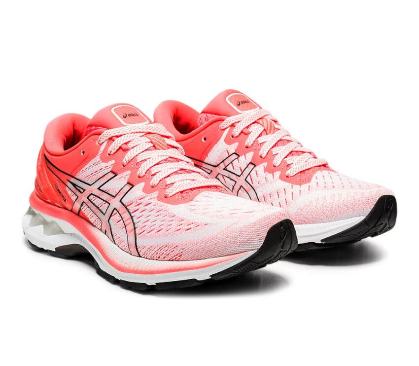 coppia scarpa running donna asics gel kayano 27 rossa tokyo