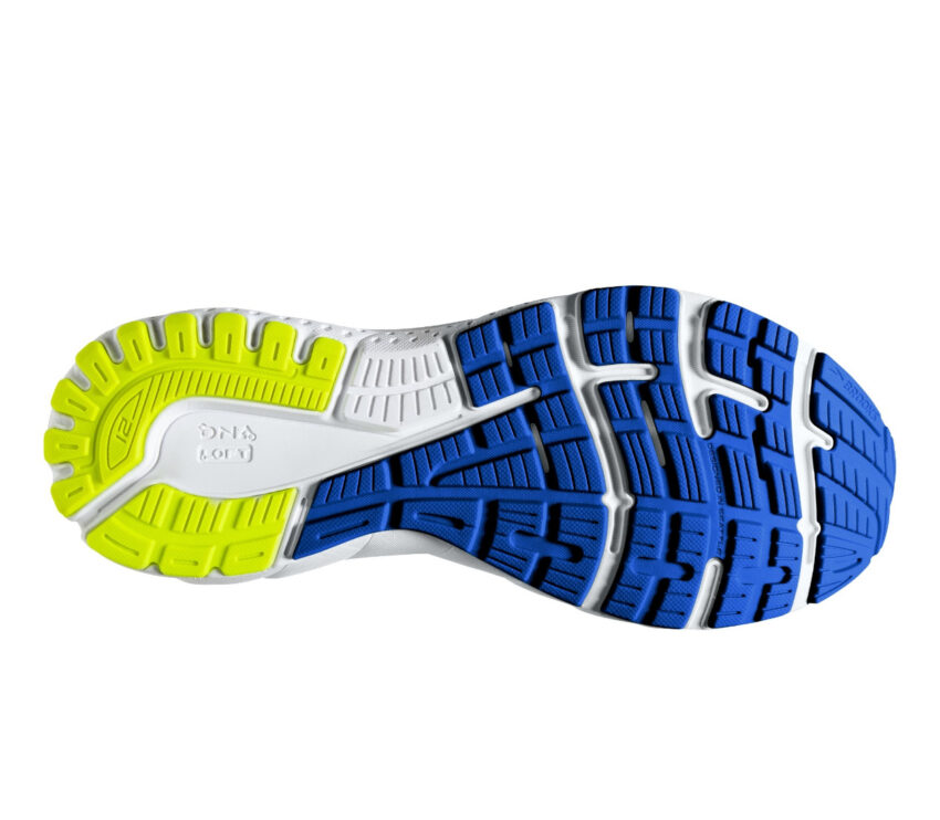 suola scarpa running per pronatori brooks adrenaline gts 21 grigio e blu
