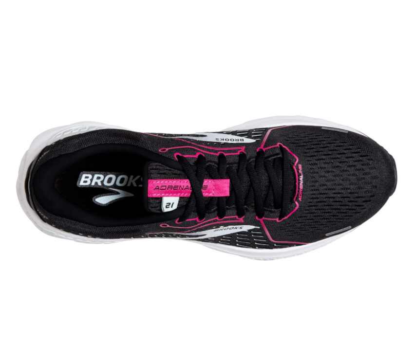 scarpa running donna nera brooks adrenaline gts 21 vista da sopra