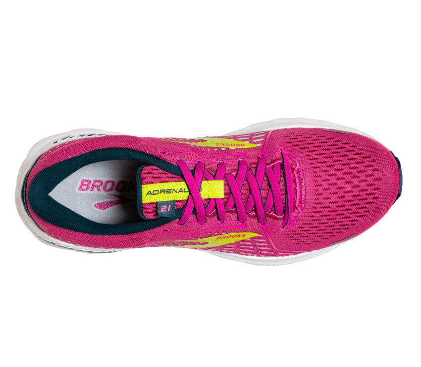 scarpa running donna rosa brooks adrenaline gts 21 vista da sopra