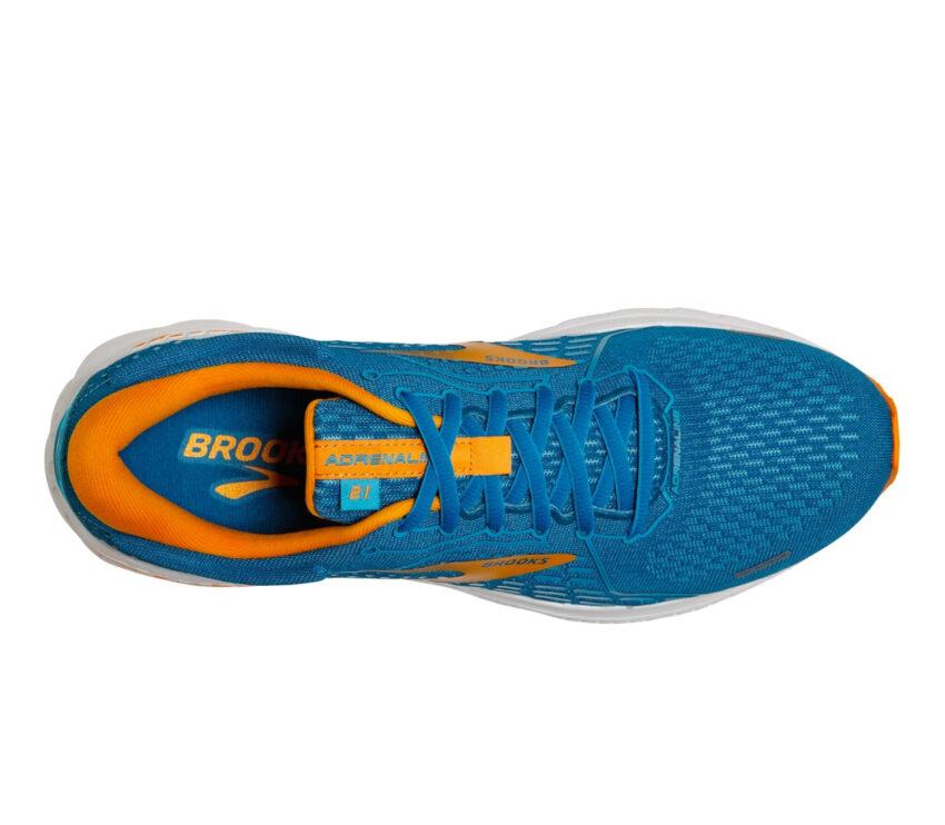 tomaia scarpa da running pronazione uomo brooks adrenaline gts 21 azzurre arancio