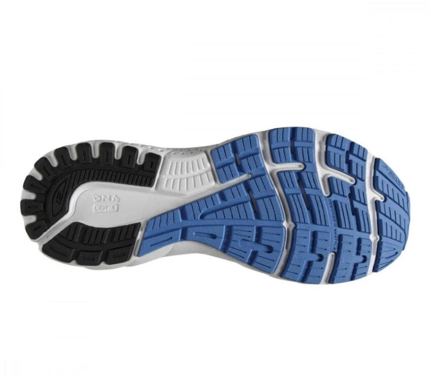 suola scarpa da running pronazione uomo brooks adrenaline gts 21 blu