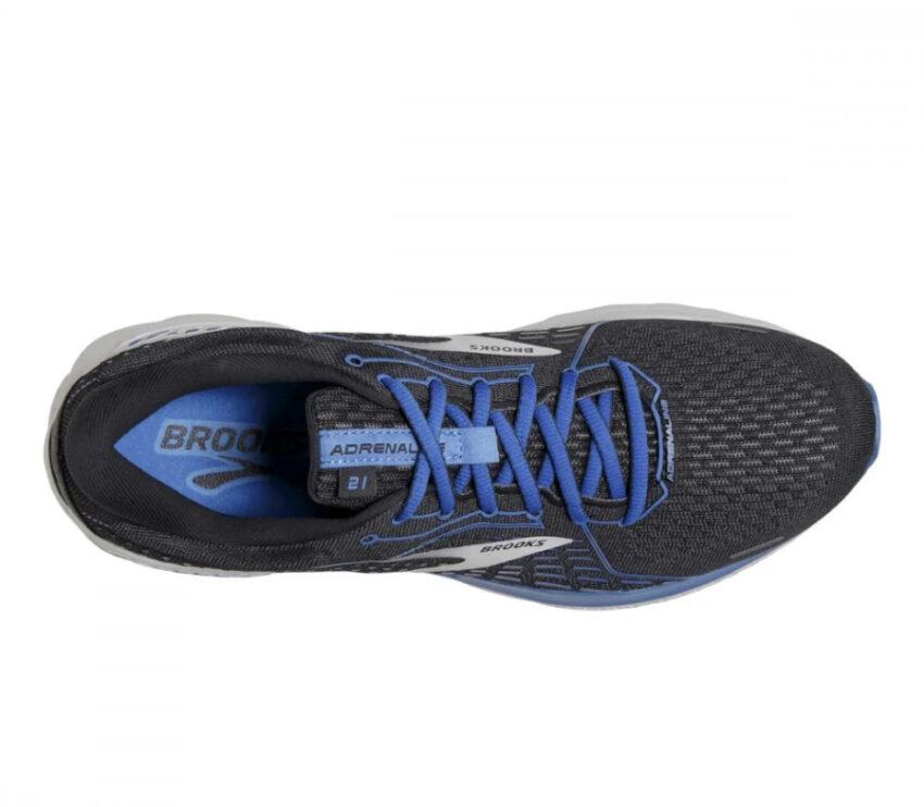tomaia scarpe da running neutre brooks adrenaline gts 21 blu e nera