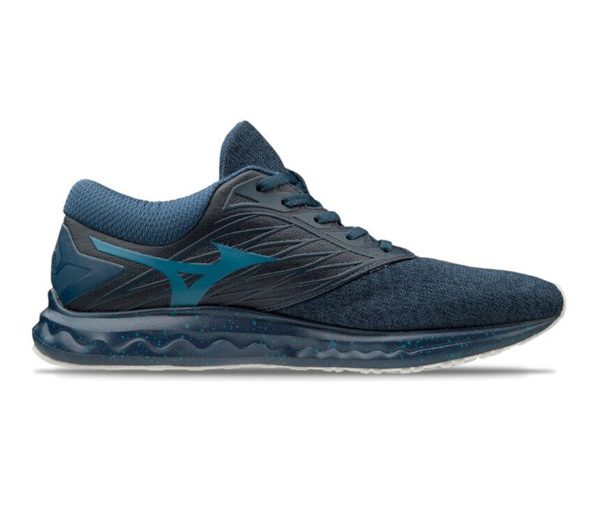 scarpa running mizuno wave polaris uomo blu