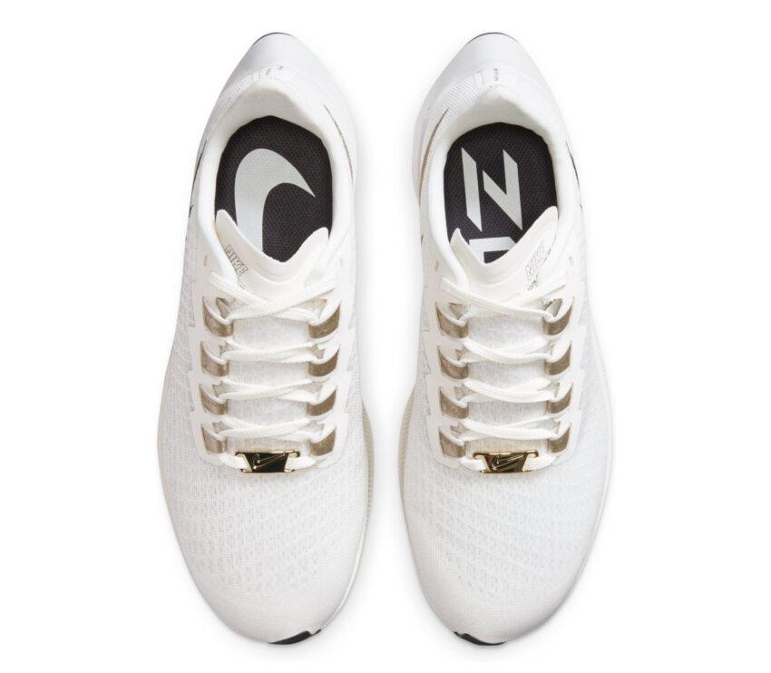 tomaia scarpa da running nike pegasus 37 premium bianca e oro