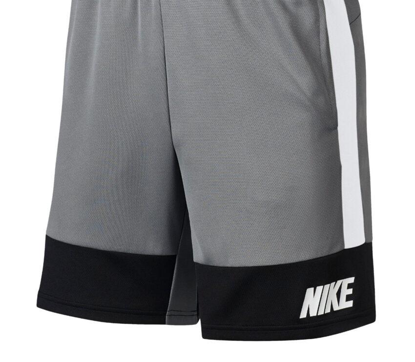 pantaloncino nike dry short 5.0 mc uomo grigio con scritta bianca nike