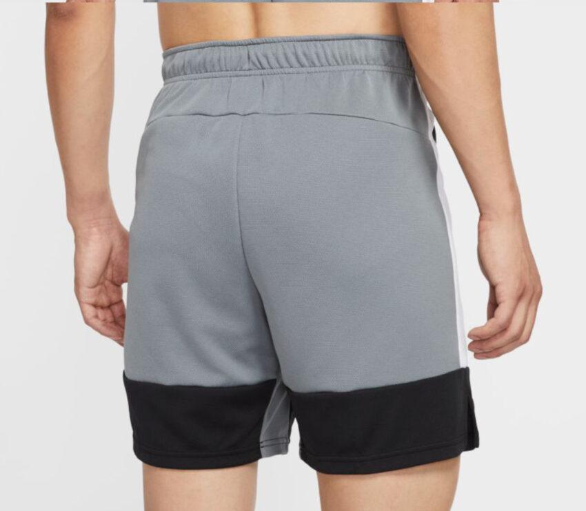 retro pantaloncino nike dry short 5.0 mc uomo grigio con scritta bianca nike