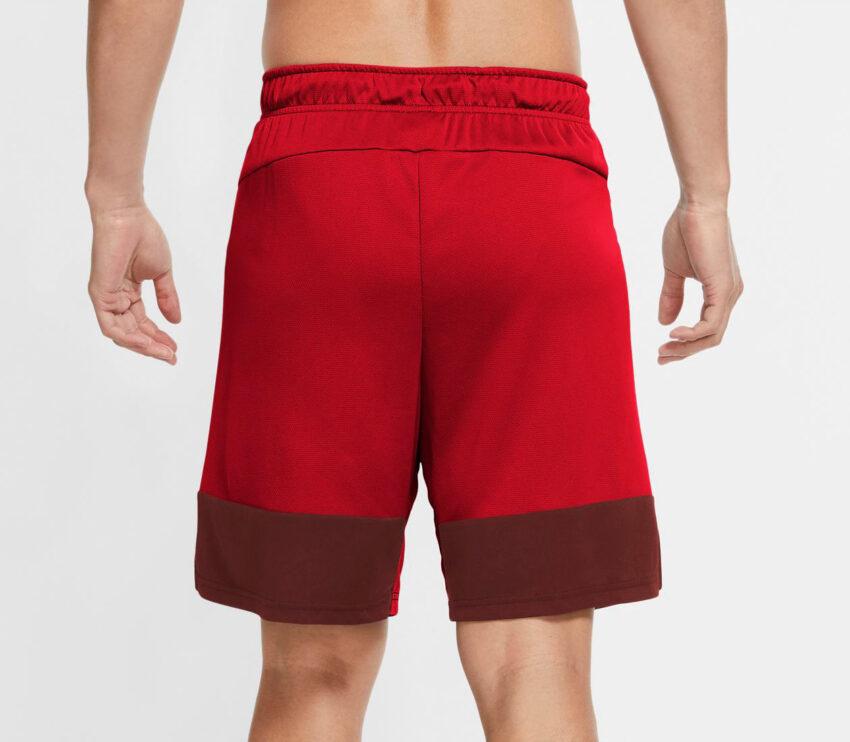 retro pantaloncino nike dry short 5.0 mc uomo rosso con scritta bianca nike