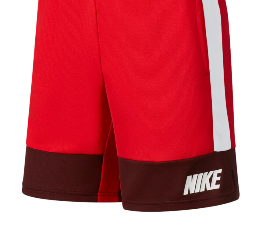 pantaloncino nike dry short 5.0 mc uomo rosso con scritta bianca nike