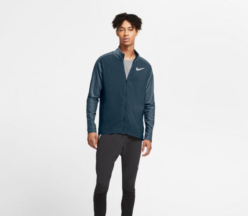 runner con giacca nike da uomo blu