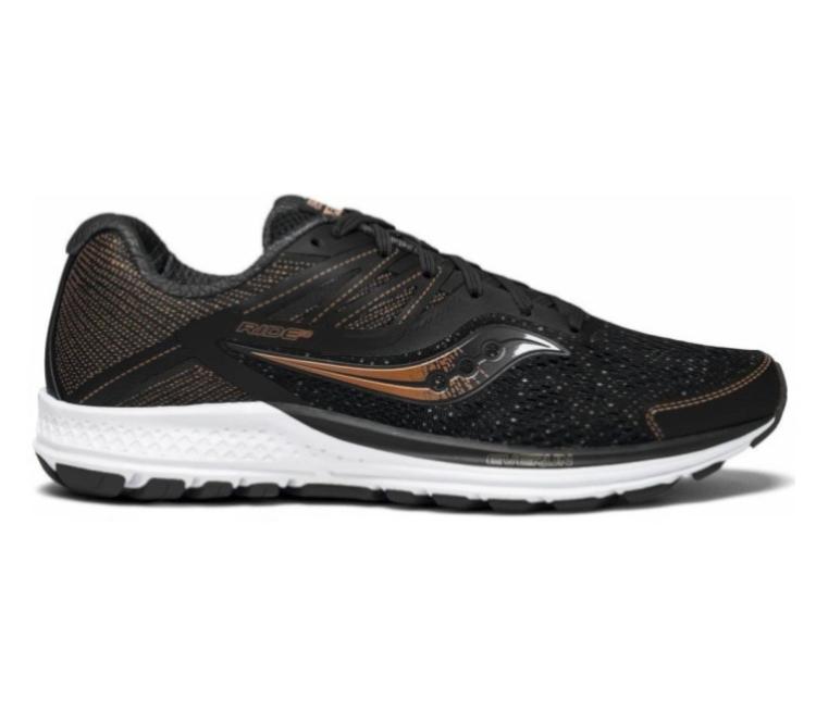 scarpe running saucony ride 10 nere da uomo