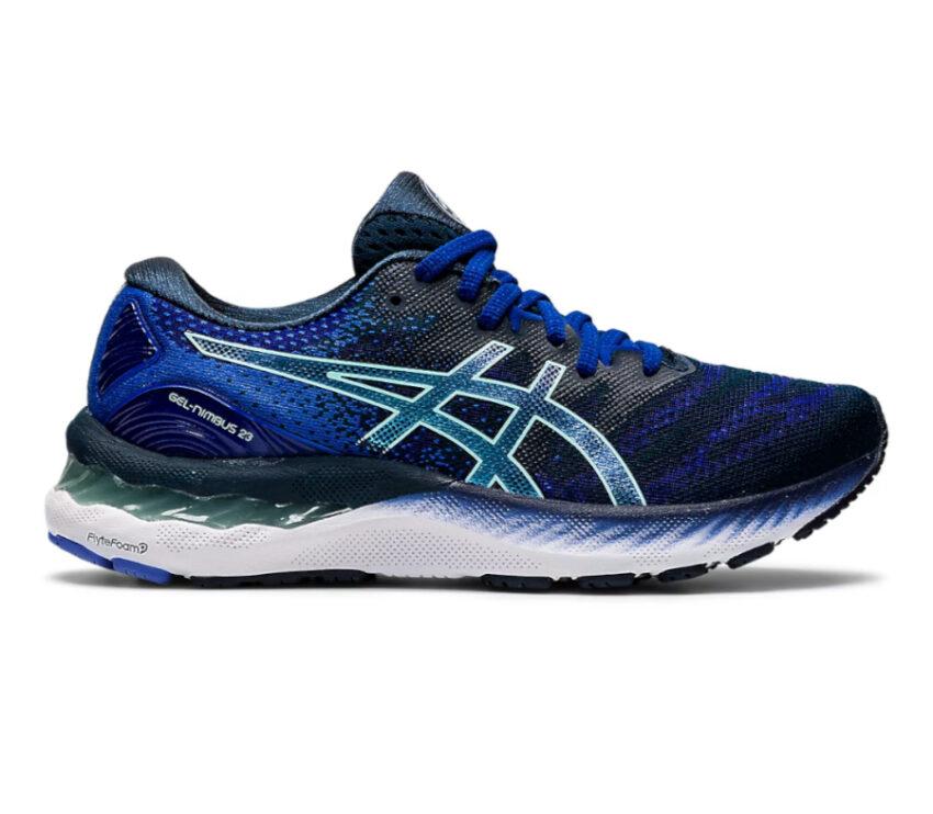 scarpa running donna asics gel nimbus blu
