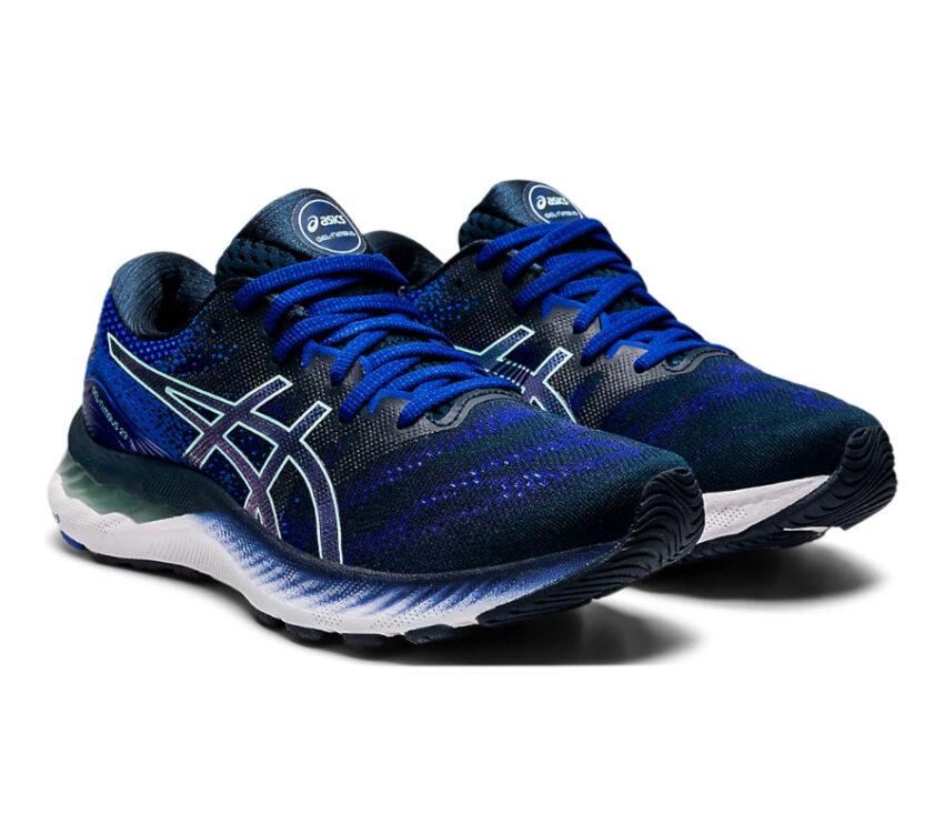 coppia scarpa running donna asics gel nimbus blu