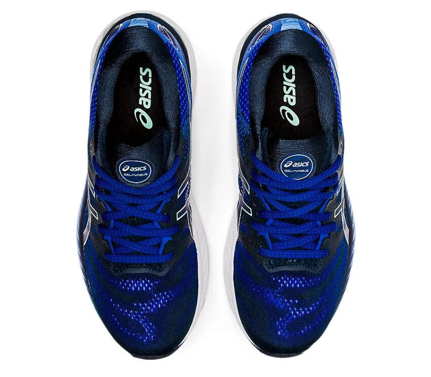 tomaia scarpa running donna asics gel nimbus blu