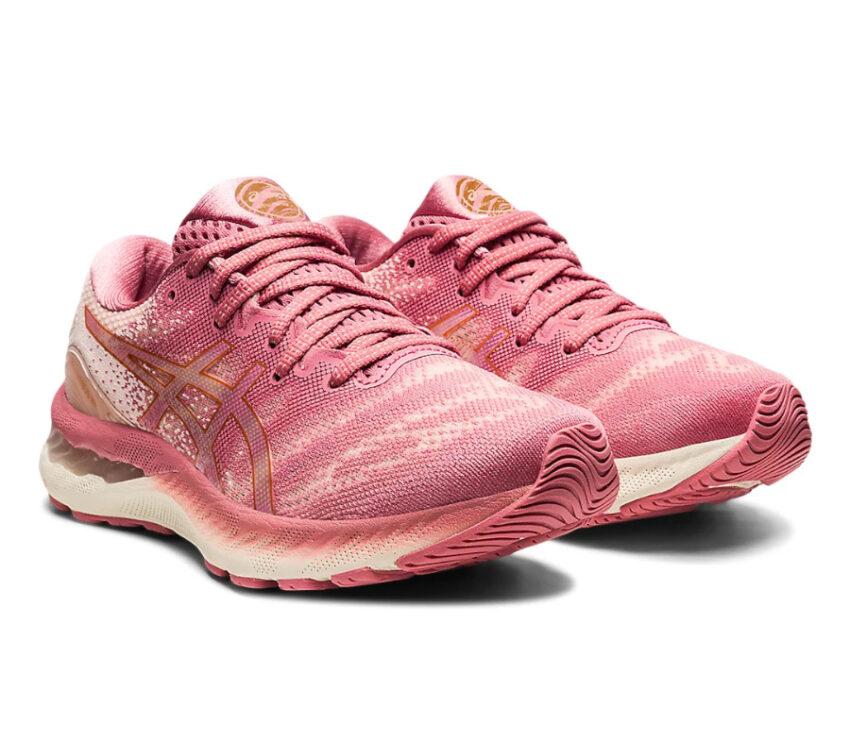 coppia scarpe da running donna asics gel nimbus 23 rosa