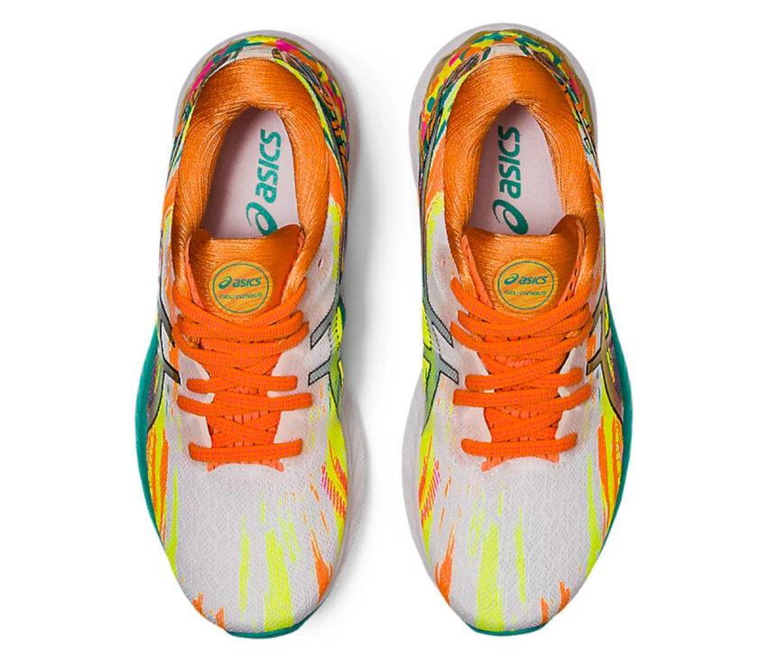 scarpe running donna colorate asics gel nimbus 23 viste da sopra