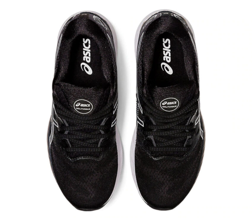 scarpe running uomo asics gel nimbus 23 nere viste dall'alto