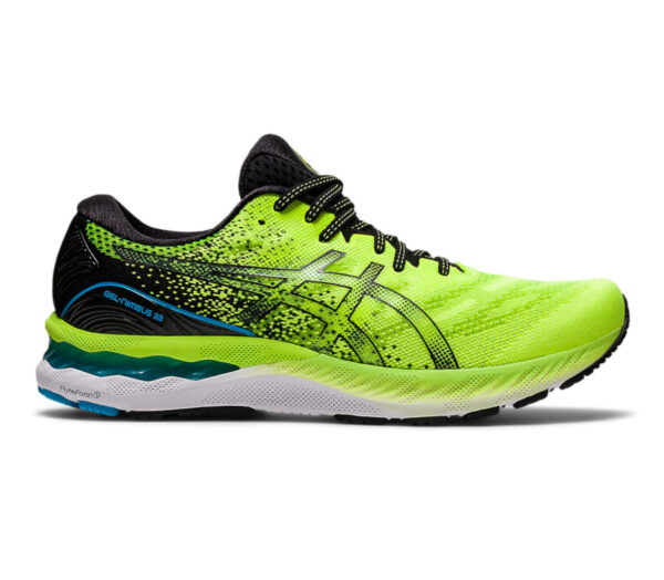 scarpa running uomo asics gel nimbus 23 colore giallo evidenziatore