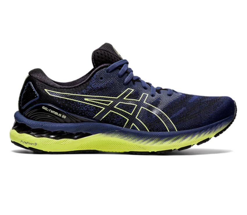 scarpa running uomo asics gel nimbus blu