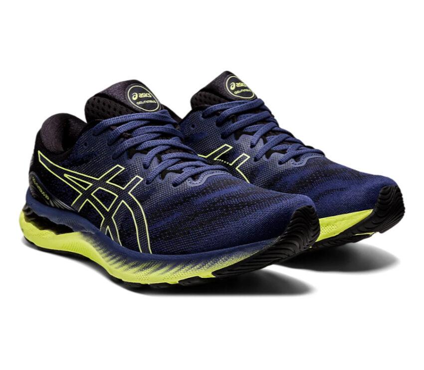 coppia scarpa running uomo asics gel nimbus blu