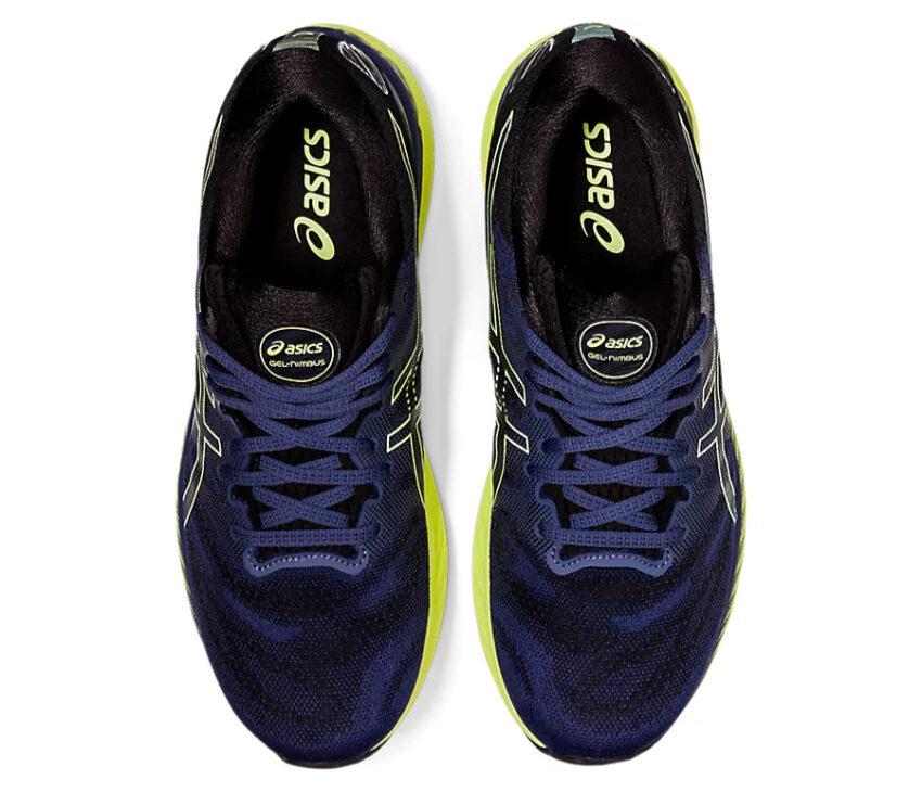 tomaia scarpa running uomo asics gel nimbus blu