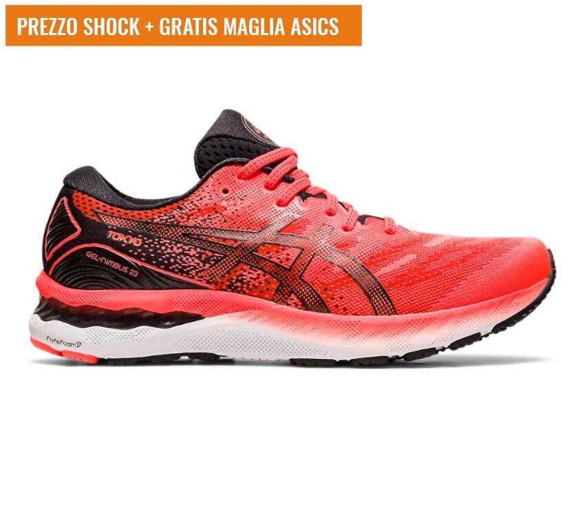 scarpa da running uomo asics gel nimbus 23 tokyo rossa
