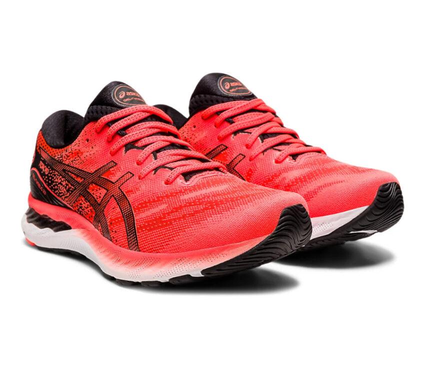 coppia scarpa da running uomo asics gel nimbus 23 tokyo rossa
