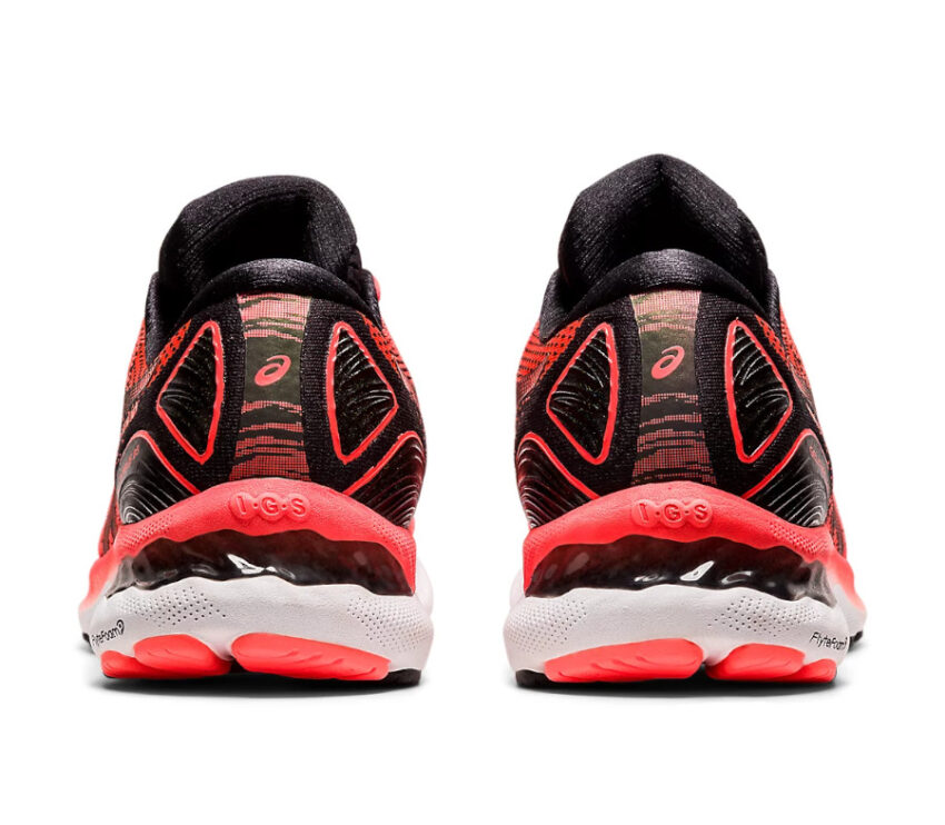 tallone scarpa da running uomo asics gel nimbus 23 tokyo rossa