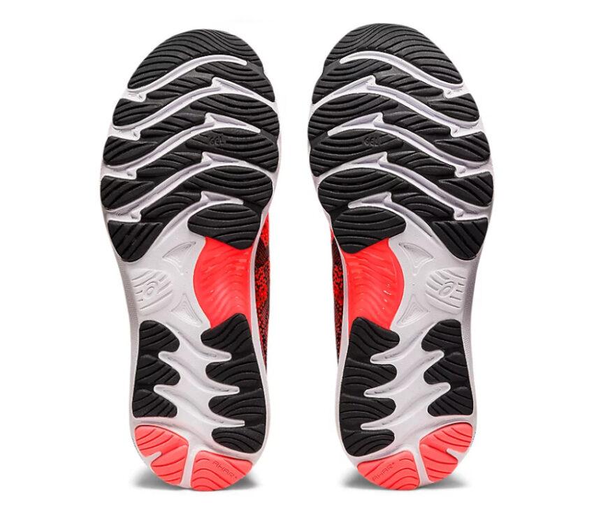 suola scarpa da running uomo asics gel nimbus 23 tokyo rossa