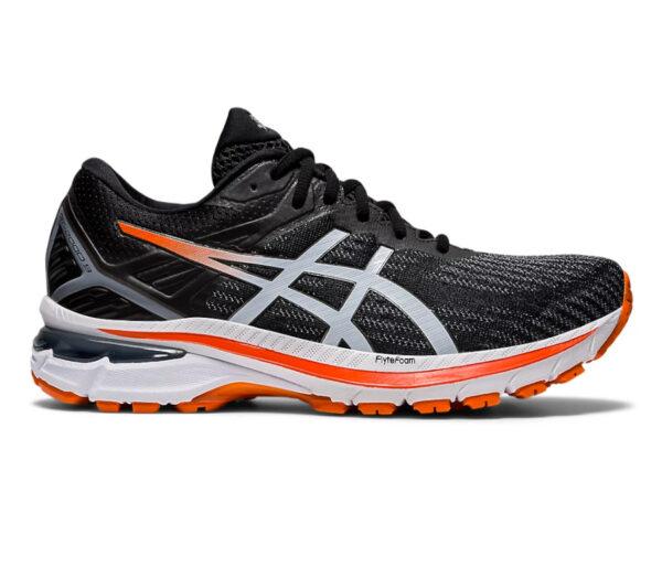 scarpa running uomo asics gt 2000-9 nera e arancione
