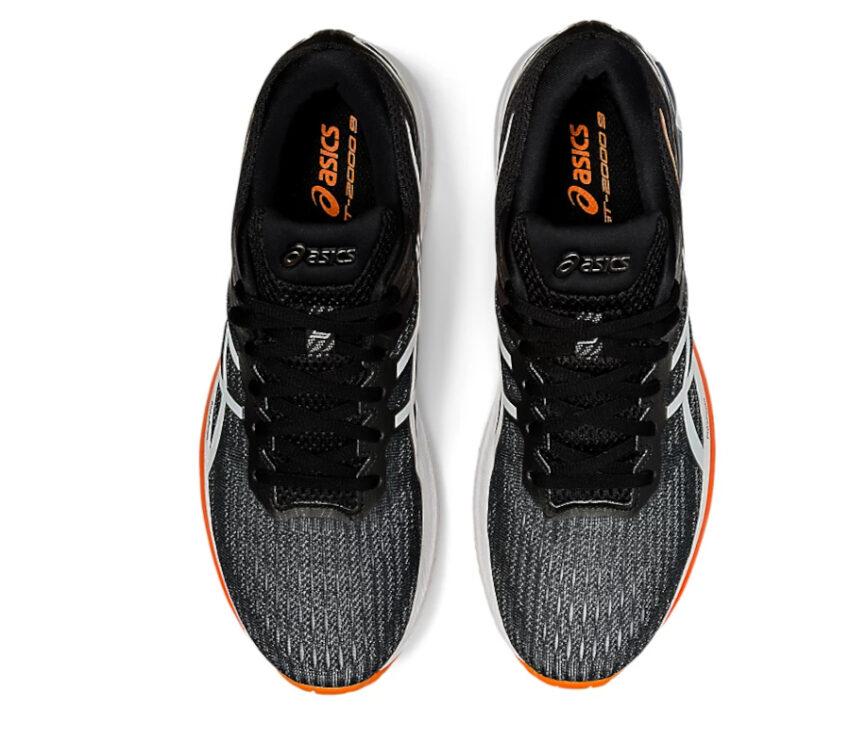 scarpe running uomo asics gt 2000-9 nere viste dall'alto