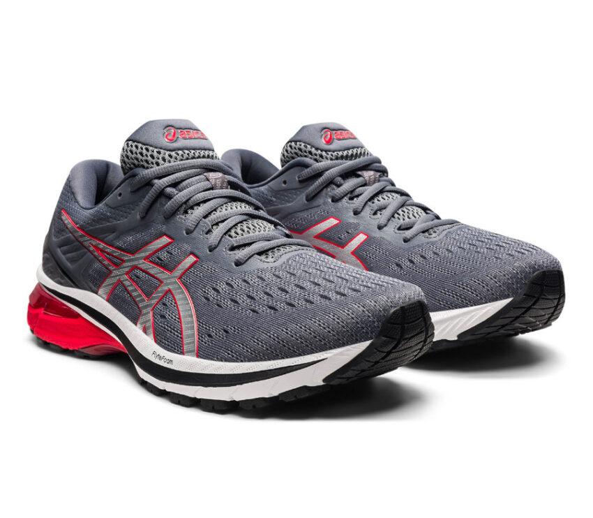coppia scarpa running pronatori asics gt 2000 9 grigia e rossa