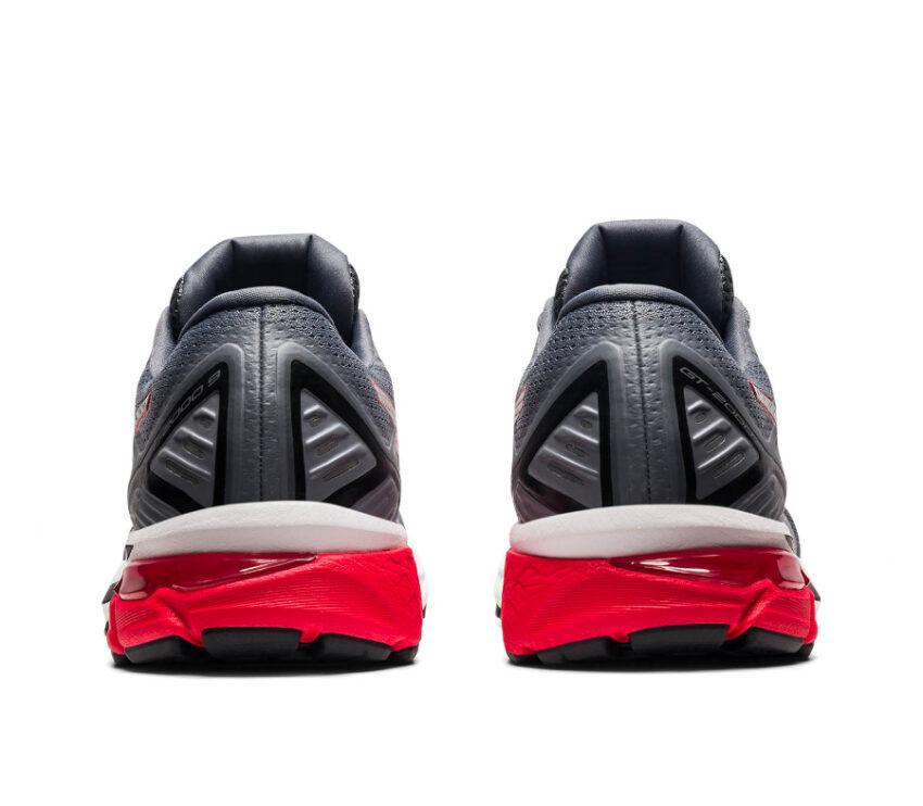 tallone coppia scarpa running pronatori asics gt 2000 9 grigia e rossa