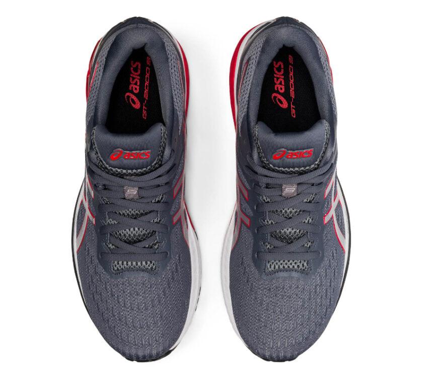 tomaia coppia scarpa running pronatori asics gt 2000 9 grigia e rossa