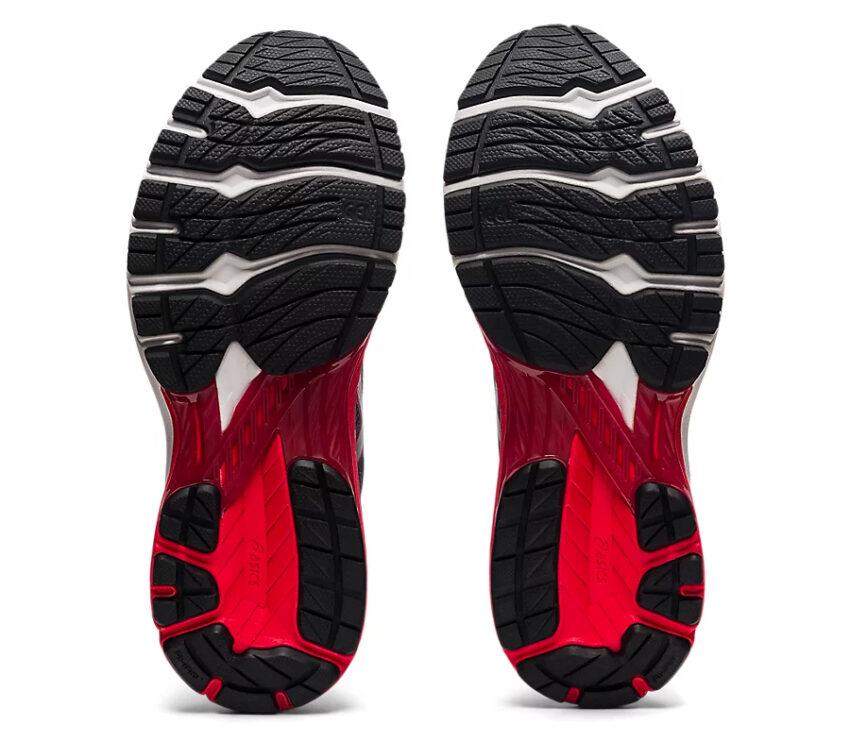 suola coppia scarpa running pronatori asics gt 2000 9 grigia e rossa