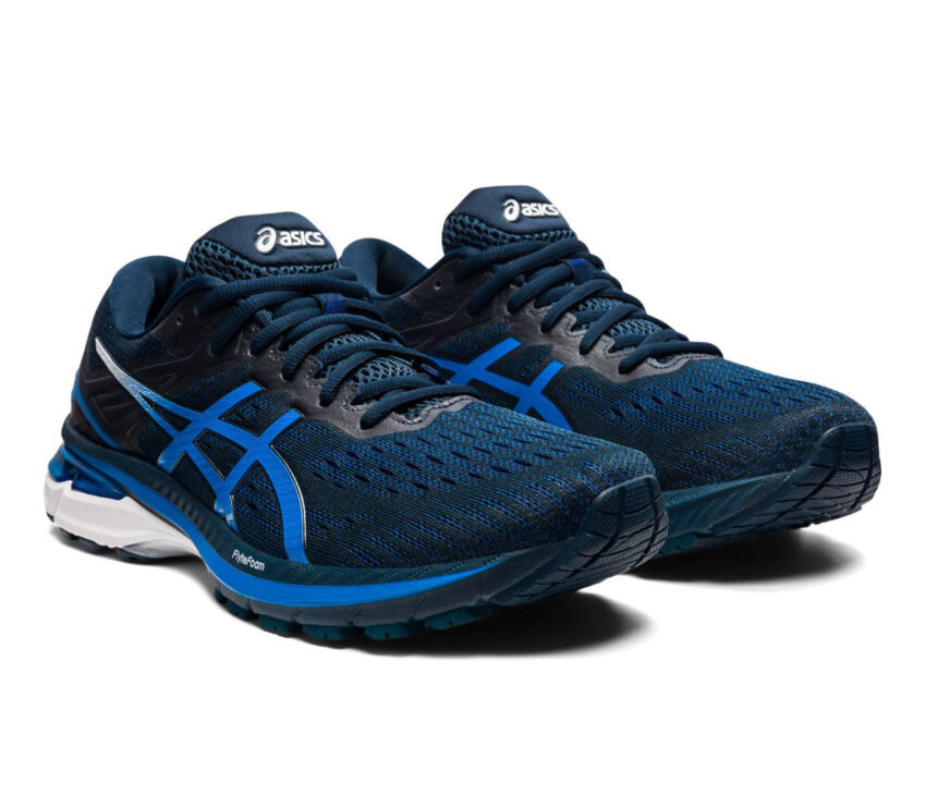 coppia scarpa running pronatori asics gt 2000 9 blu